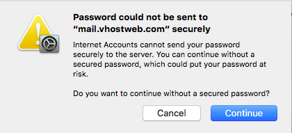 Without secured password